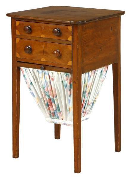 416: c. 1800 Hepplewhite two drawer stand. New England,