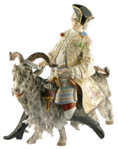 """423: Early Miessen porcelain, 17"""",crossed swords,kings"""