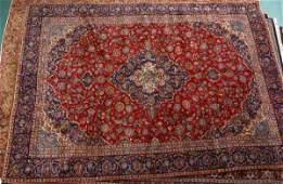 471 129 x 9 Handmade Persian Old Kasan rug Blue fi