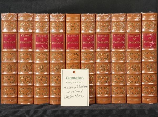 "1005: 10 volumes, ""History of England"", Easton Press"
