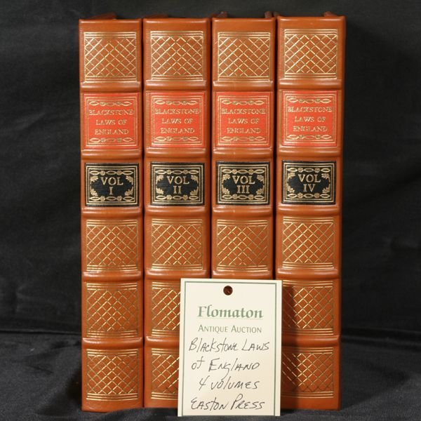 """1008: 4 volumes, """"Comm...Laws of England"""",  Gryphon"""