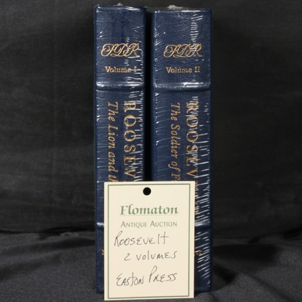 "1022: 2 volumes, ""Roosevelt"", Easton Press"