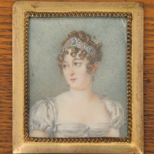 1165: Hand painted portrait on ivory, Princess Josephin