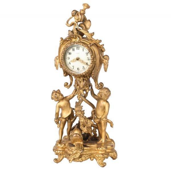 """1: Late 1800 Art Nouveau mantle clock, """"New Haven Clock"""