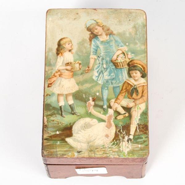 3: Small music box, 4 airs, pat Nov 28, 1882, Switzerla