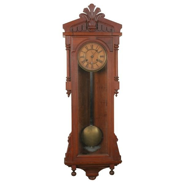 18: Late 1800 aesthetic Victorian hanging wall clock, A
