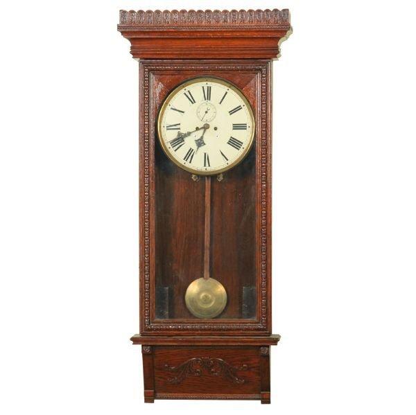 19: Late 1800 Aesthetic Victorian regulator wall clock,