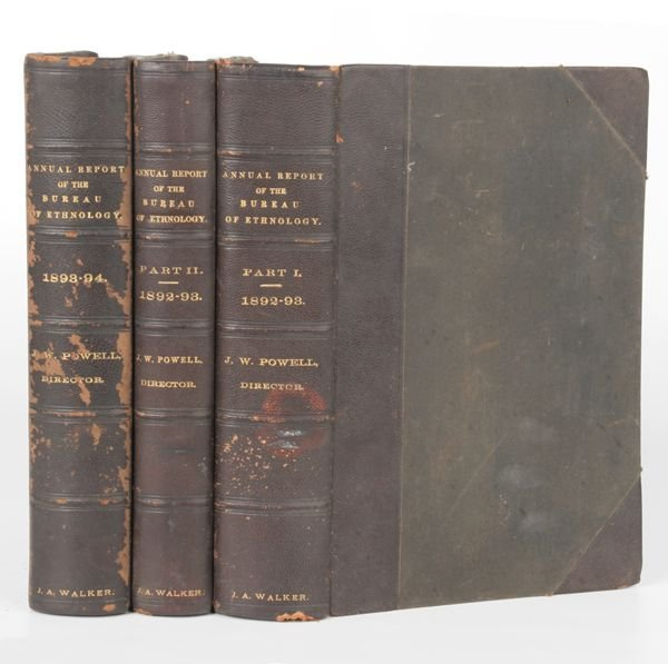 """21: Three vol - """"Ethnology, Am.Indian Research"""", 1892-4"""
