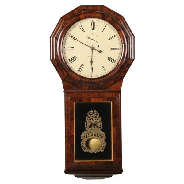 "22: Late 1800's regulator wall clock, ""Seth Thomas #1 e"