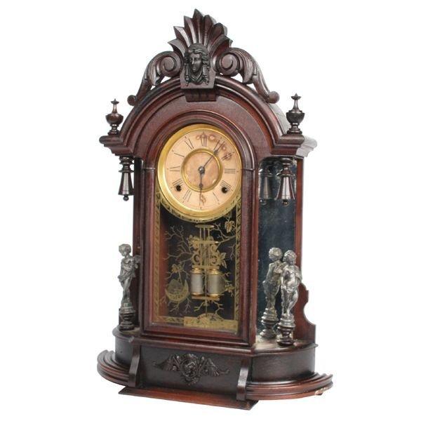 "77: Late 1800 Renaissance Victorian mantel clock, ""Anso"