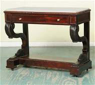 332: Fine mid 1800's Classical Empire pier table, Frenc