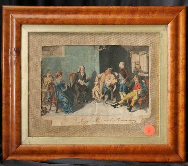 "1002: Early 19th Century print,"" Knigge Reise nach Brau"