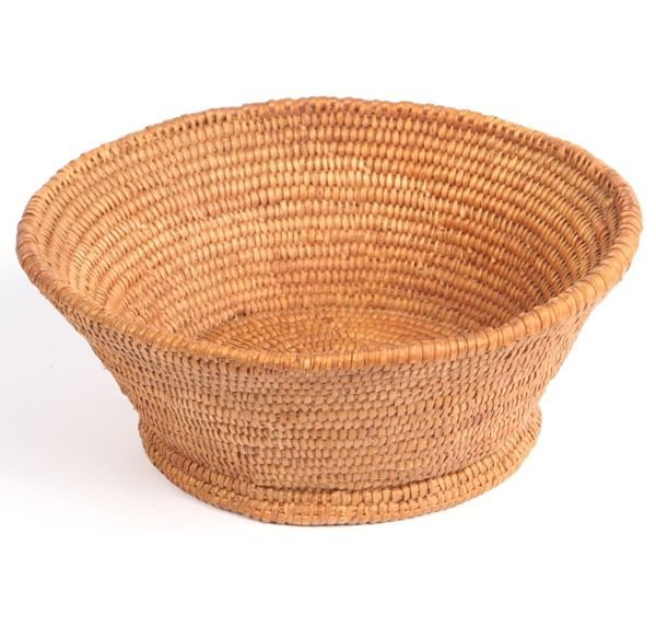 1017: Lot of two large Indian baskets, possibly southwe