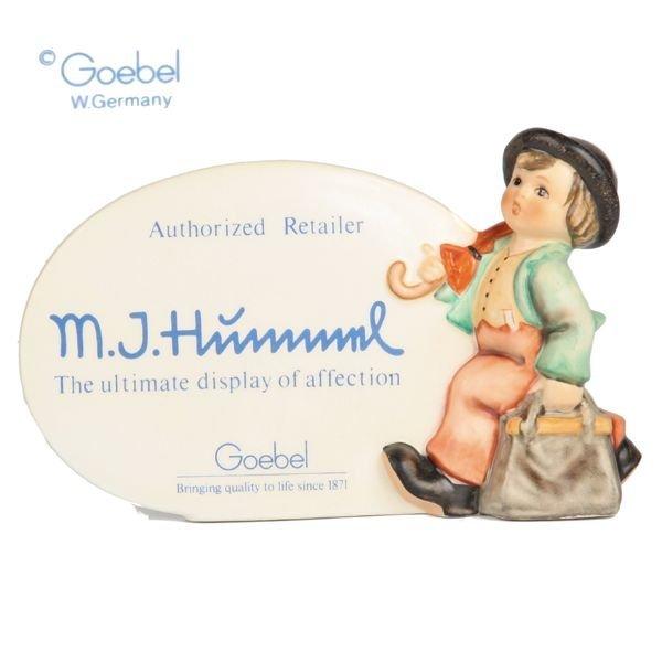 """1025: M. I. Hummel Goebel porcelain, """"Plaque"""", #187, Go"""