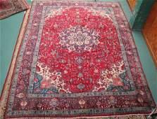 1168 Old Persian Tabriz rug 101 x 13 cranberry fi