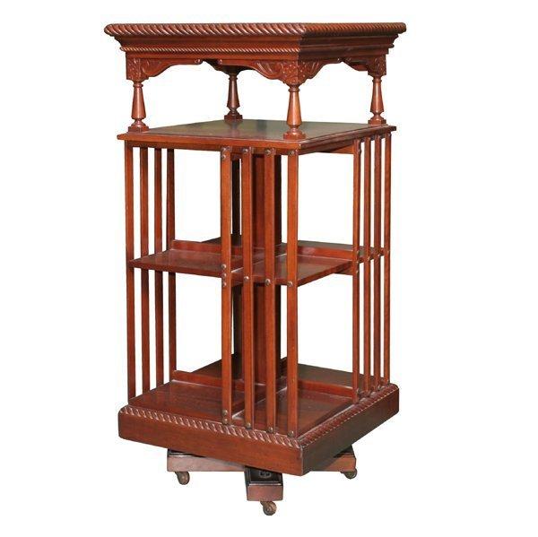 """2: Fine c1900 revolving bookcase, solid cherry, """"Danner"""