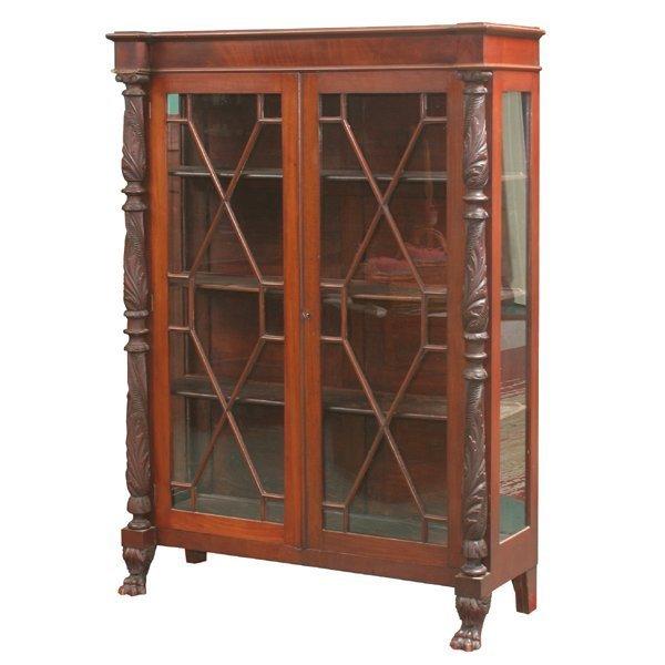 4: Late 1800's Federal Revival china cabinet, mahogany,