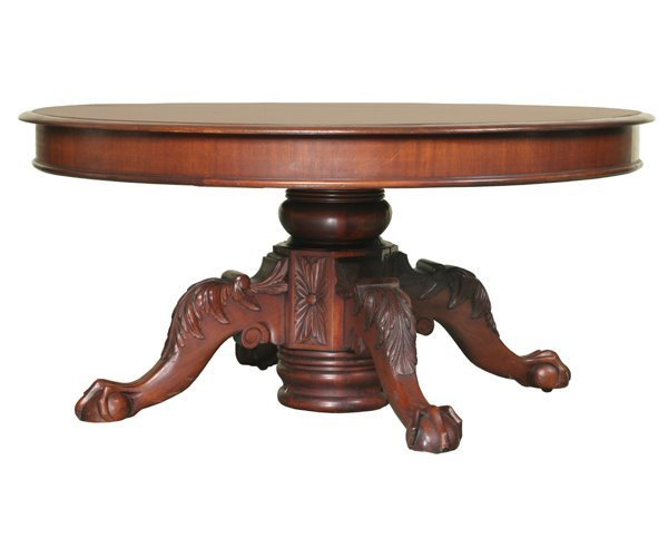 """12: Fine 19th Century Federal Revival 60"""" banquet table"""
