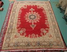 340 Old Persian Kerman rug 96 x 126 red field wi