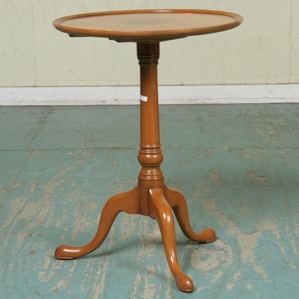 """1010: Chippendale style candlestand, """"A Williamsburg Ad"""
