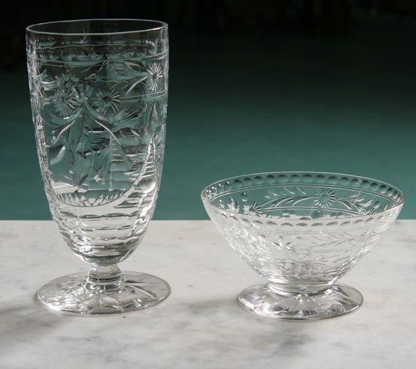 1012: Lot of ten pieces of cut glass stemware, in quali