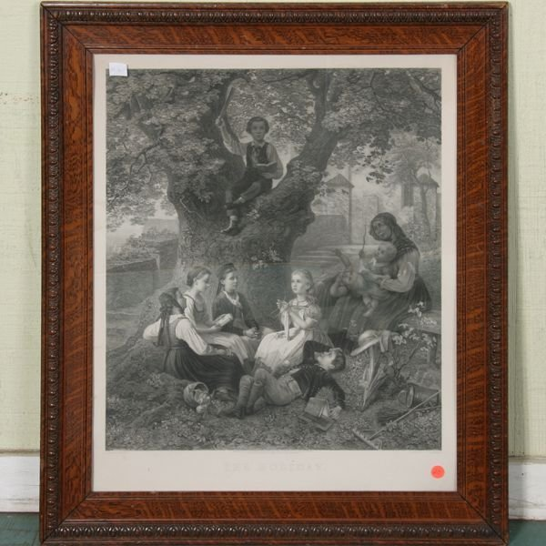 """1020: Large Victorian print, """"The Holiday"""", """"Published"""