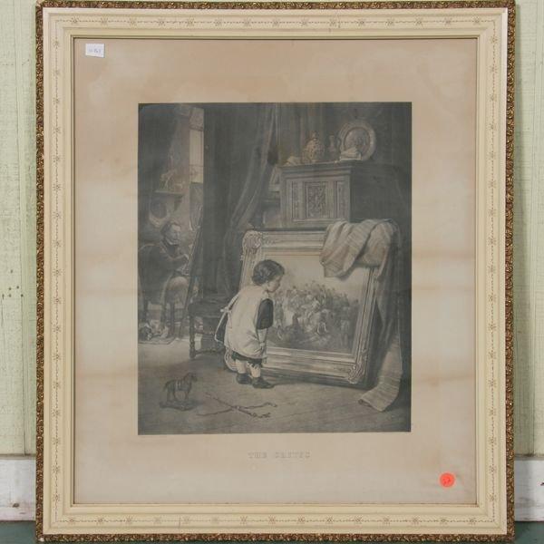 "1022: 19th century print, ""The Critic"", ""Siegert/Krug"","