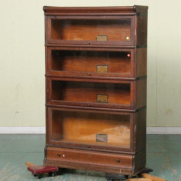 "1023: Circa 1900 four stack bookcase, ""The Globe-Wernic"