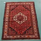 1266: Hamedan handknotted Persian wool rug, diamond med