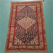 1283 Malayer handknotted Persian wool rug natural and