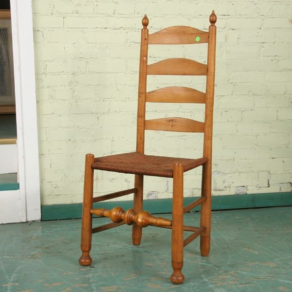 308: C1800 ladderback chair, probably Delaware River Va