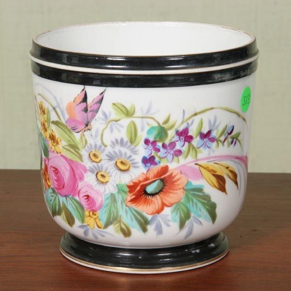 313: 19th Century Old Paris porcelain Jardiniere, large