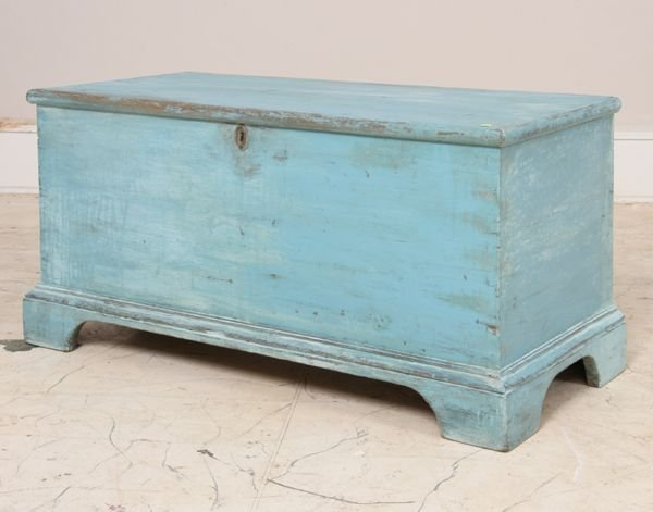 567: 19th Century southern blanket chest, yellow pine,