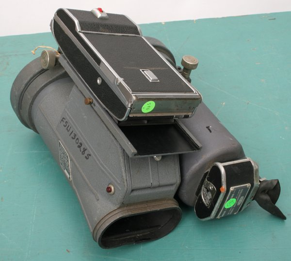 596: Lot of two oscilloscope cameras. 1) Dumont, Oscill