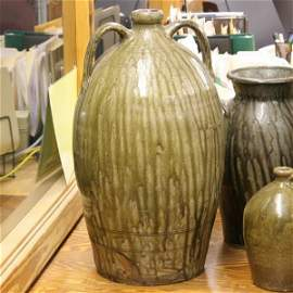 10: Large mid 1800 ovoid stoneware jug, South Carolina,