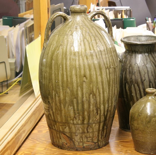10: Large mid 1800 ovoid stoneware jug, South Carolina,