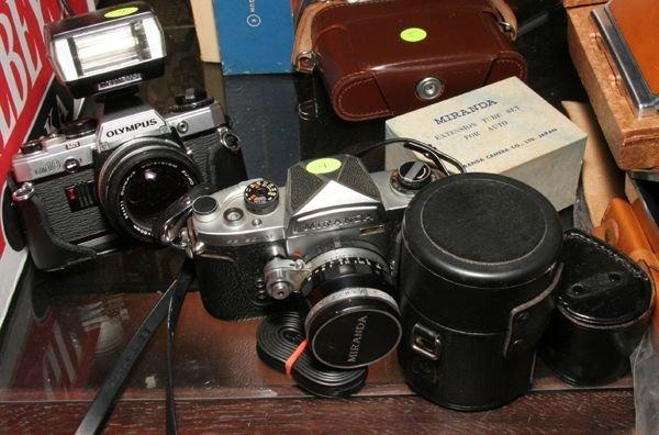 504: Two cameras, one Miranda/ Sensomat, 50mm 1.9/1.4,