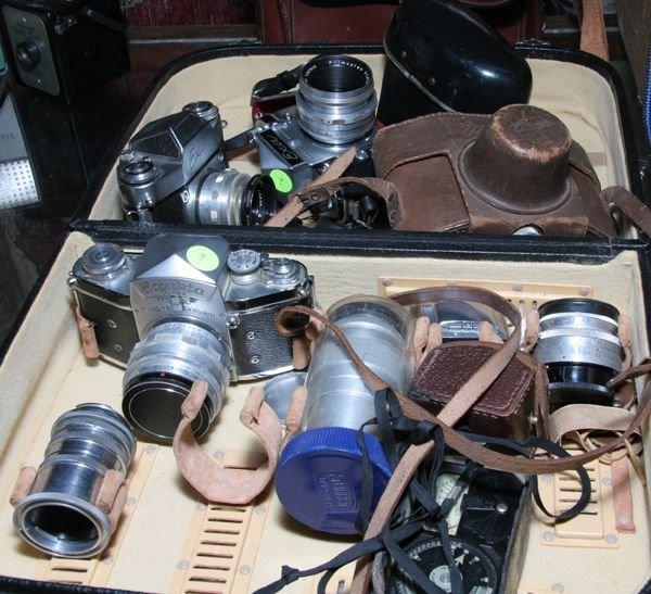 509: Lot of four Exakta, one EXA/58mm f1.9, one EXA 11/