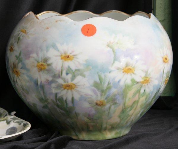 1001: Late 19th century Victorian porcelain Jardiniere,
