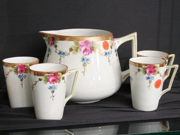 "1020: Porcelain five piece lemonade set, ""Te-Oh , Nippo"