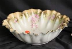 1055: Fine porcelain bowl. RS Prussia, red mark. Multip