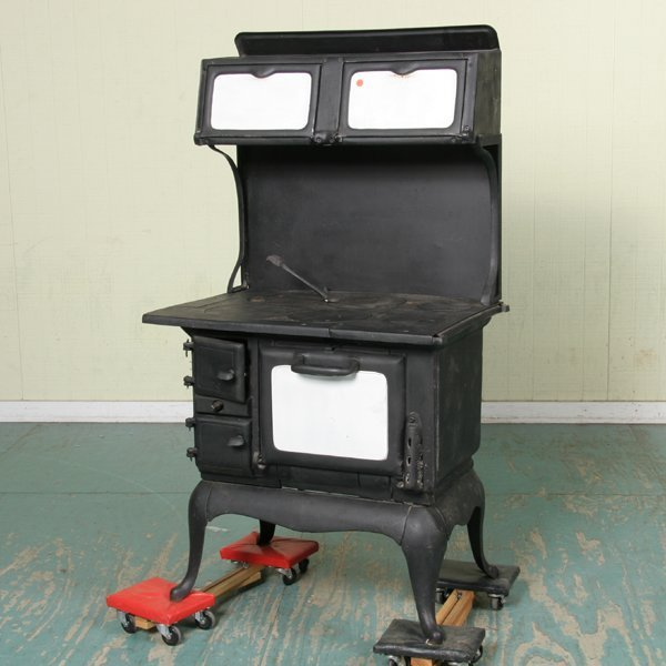 "1094: Early 1900 cast iron cook stove, ""Birmingham Stov"