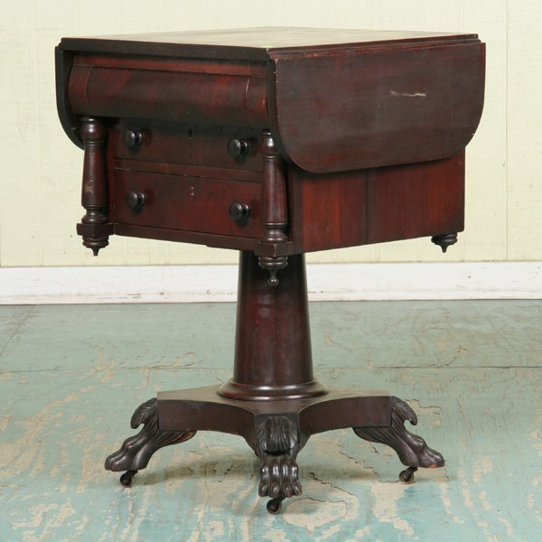 8: Late 19th Century Empire Revival three drawer drople