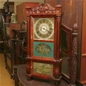 227: 1840 Federal triple decker shelf clock, fiddleback
