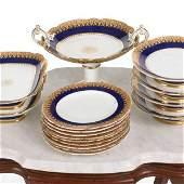 """455: """"c. 19th century 16 piece porcelain dinner set, co"""