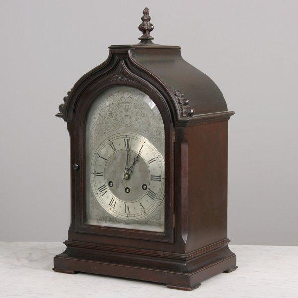 "1001: Fine early 1900 gothic bracket clock, ""Herschede,"