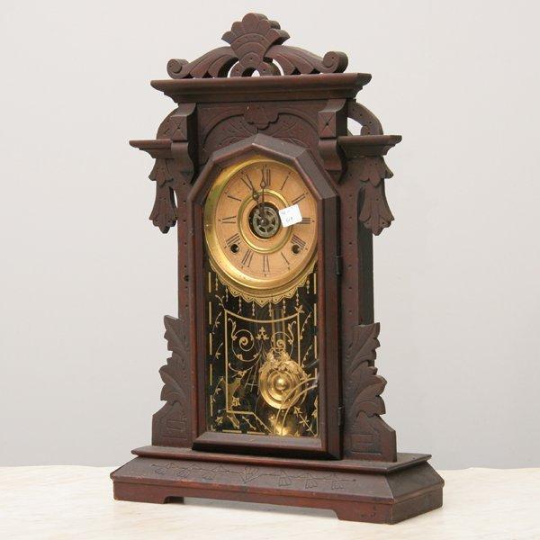 1005: Late 1800 Renaissance Victorian mantel clock, sol