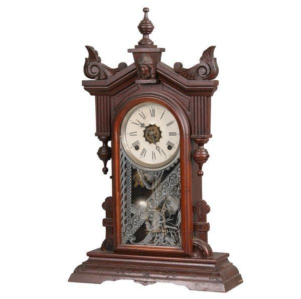 1006: Late 1800 Renaissance Victorian mantle clock, sol