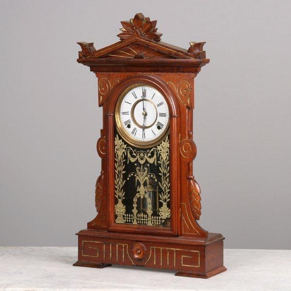 1015: Fine 1880's Renaissance Victorian mantel clock, s