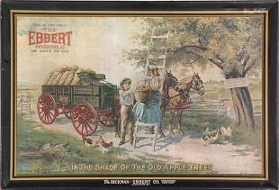 Early tin advertising sign, 1906, Chas. W. Shonk Co.